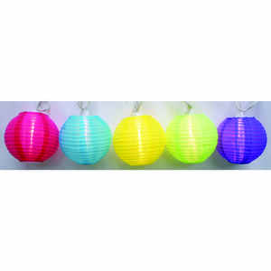 Living Accents  Round Color Lanterns  Clear  Light Set  7.5 ft.
