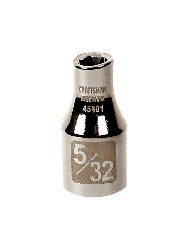 Craftsman  5/32 in.  x 1/4 in. drive  SAE  6 Point Standard  Socket  1 pc.