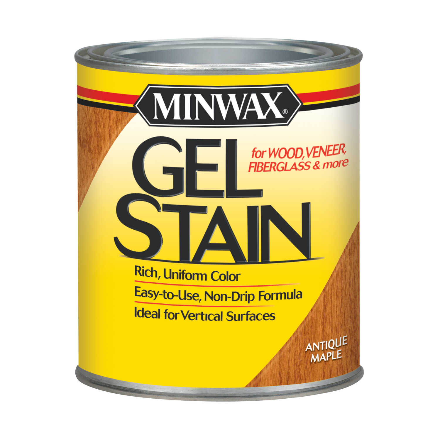 Minwax  Transparent  Low Luster  Antique Maple  Oil-Based  Gel Stain  1 qt.