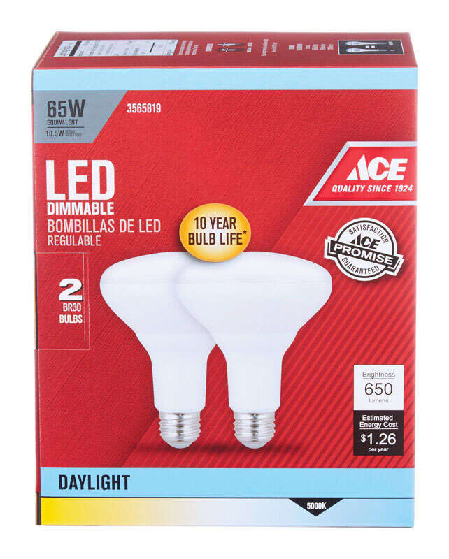 Ace  9 watts BR30  LED Bulb  Floodlight  Daylight  680 lumens 65 Watt Equivalence