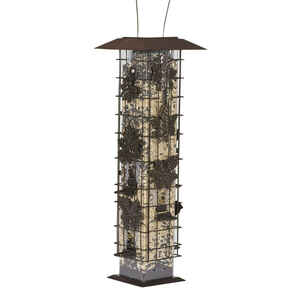 Perky-Pet  Wild Bird  2 lb. Metal/Plastic  Bird Feeder  6 ports
