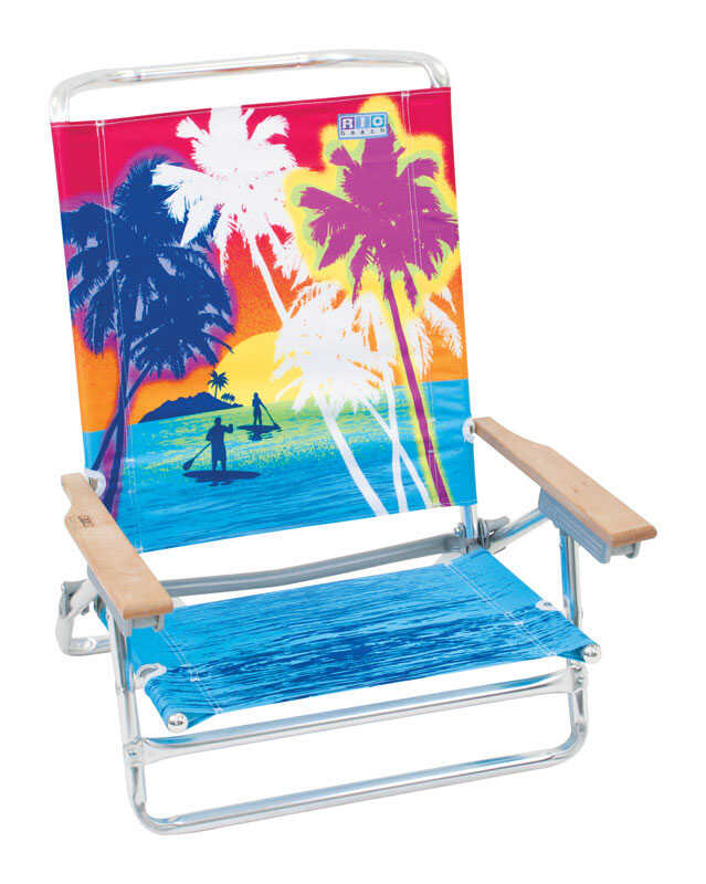 Rio Brands  Beach Chair  5 Position