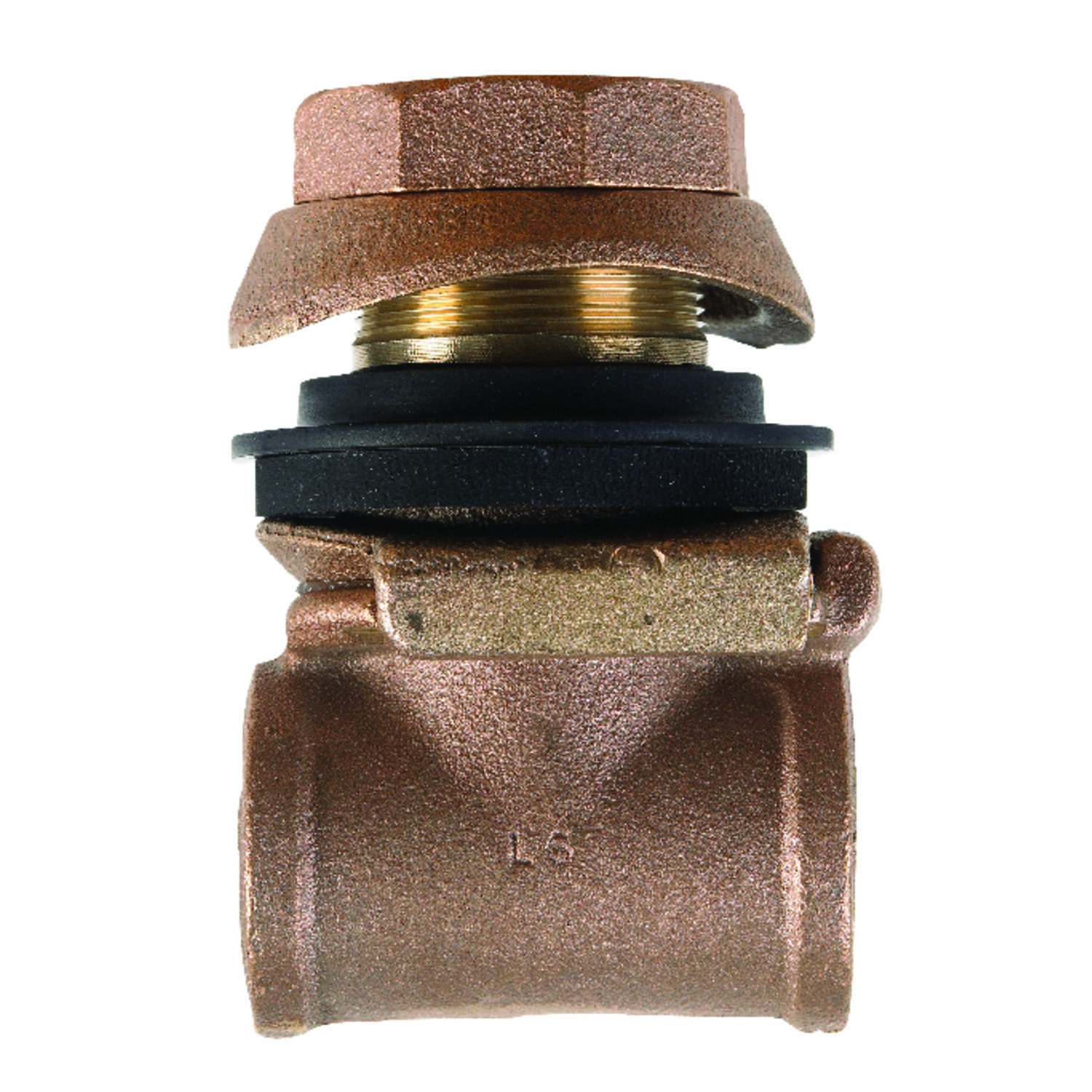 Campbell  Red Brass  Pitless Adapter  1-1/4 in.  x 4 in. L