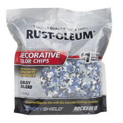 Rust-Oleum EpoxyShield Indoor and Outdoor Gray Blend Decorative Color Chips 1 lb.