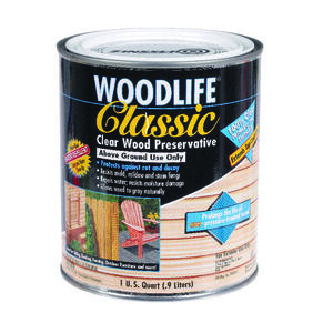 Woodlife  Classic  Clear  Water-Based  Wood Preservative  1 qt.