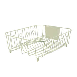 Rubbermaid  13.8 in. W x 17.6 in. L x 5.9 in. H Steel  Dish Drainer  Bisque