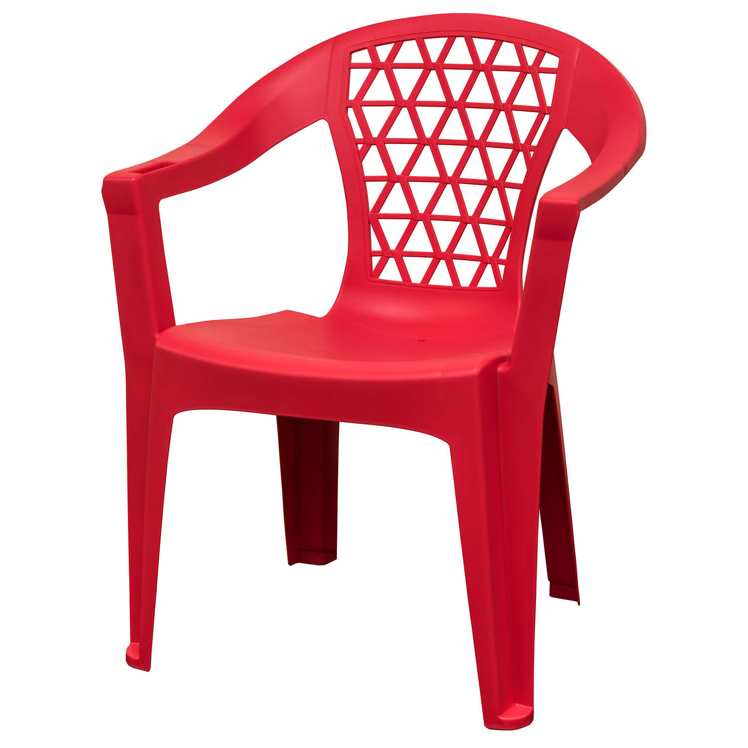 Adams  Penza  Red  Polypropylene  Stackable Chair
