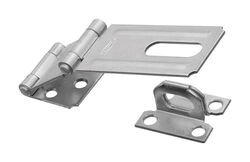National Hardware  Zinc-Plated  Aluminum/Steel  3-1/4 in. L Double Hinge Safety Hasp  1