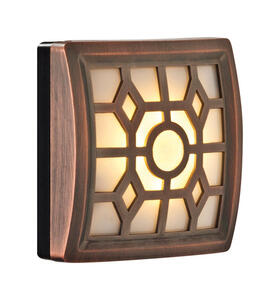 Fulcrum  LIGHT IT  Motion-Sensing  Battery Powered  Bronze  Security Wall Light