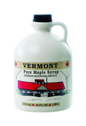 Georgia Mountain Maples  Vermont  Pure Syrup  1/2 gal. Jug