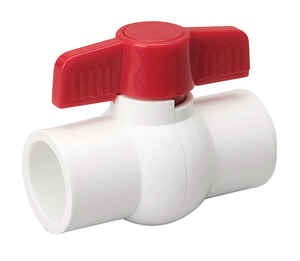 Mueller  Ball Valve  1/2 in. Dia. x slip   x 1/2 in. Dia. slip  PVC  Ball