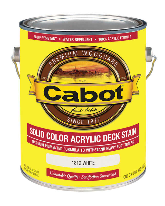 Cabot  Solid  White  Oil-Based  Acrylic  Deck Stain  1 gal.
