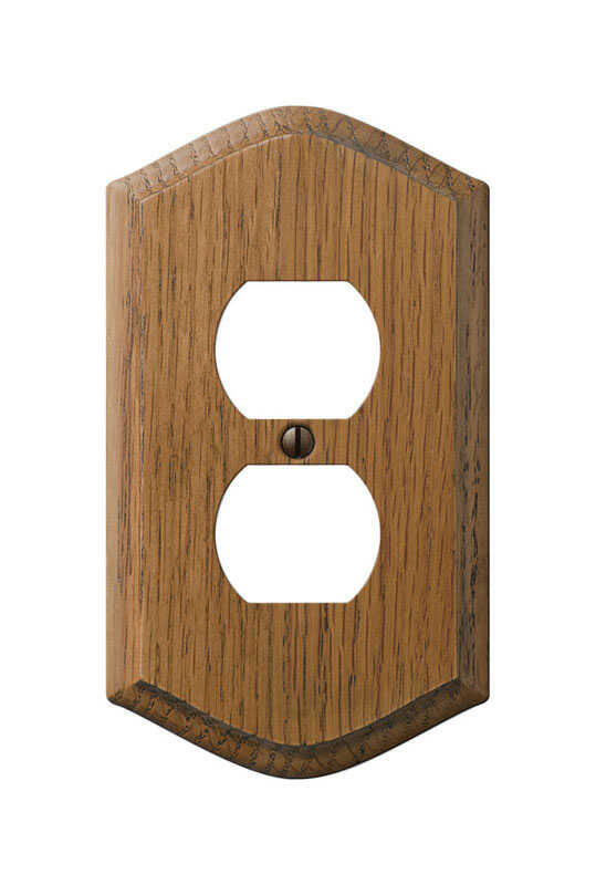 Amerelle  Country  1 gang Duplex Outlet  Wall Plate  Wood  1 pk