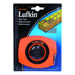 Lufkin  50 ft. L x 0.38 in. W 1 pk Orange  Tape Rule