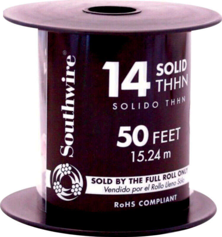 Southwire  50 ft. 14/1  THHN  Building Wire  Solid