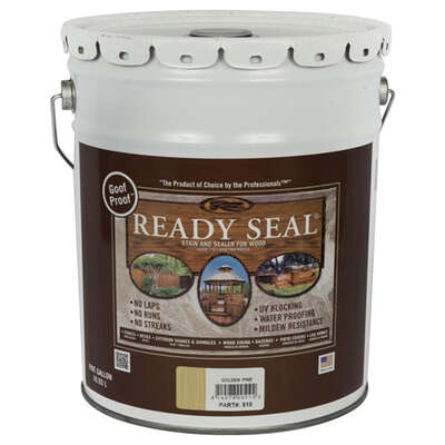 Ready Seal  Goof Proof  Semi-Transparent  Golden Pine  Oil-Based  Wood Stain and Sealer  5 gal.