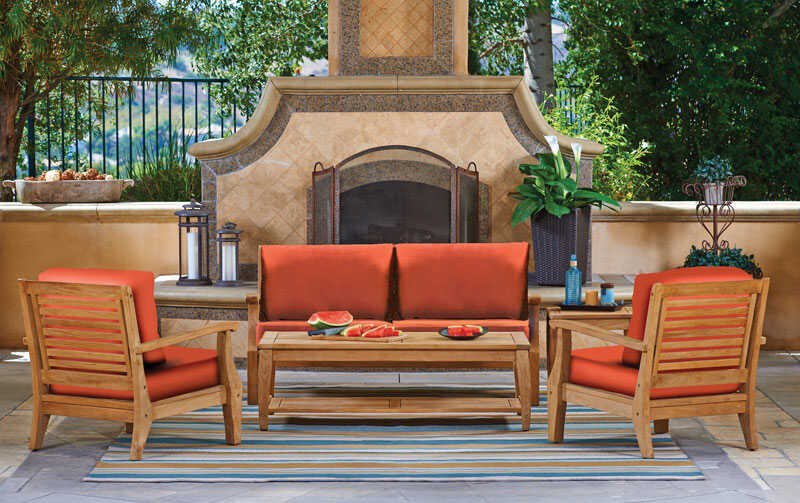 Northcape  5 pc. Wood  Deep Seating Set  Rust