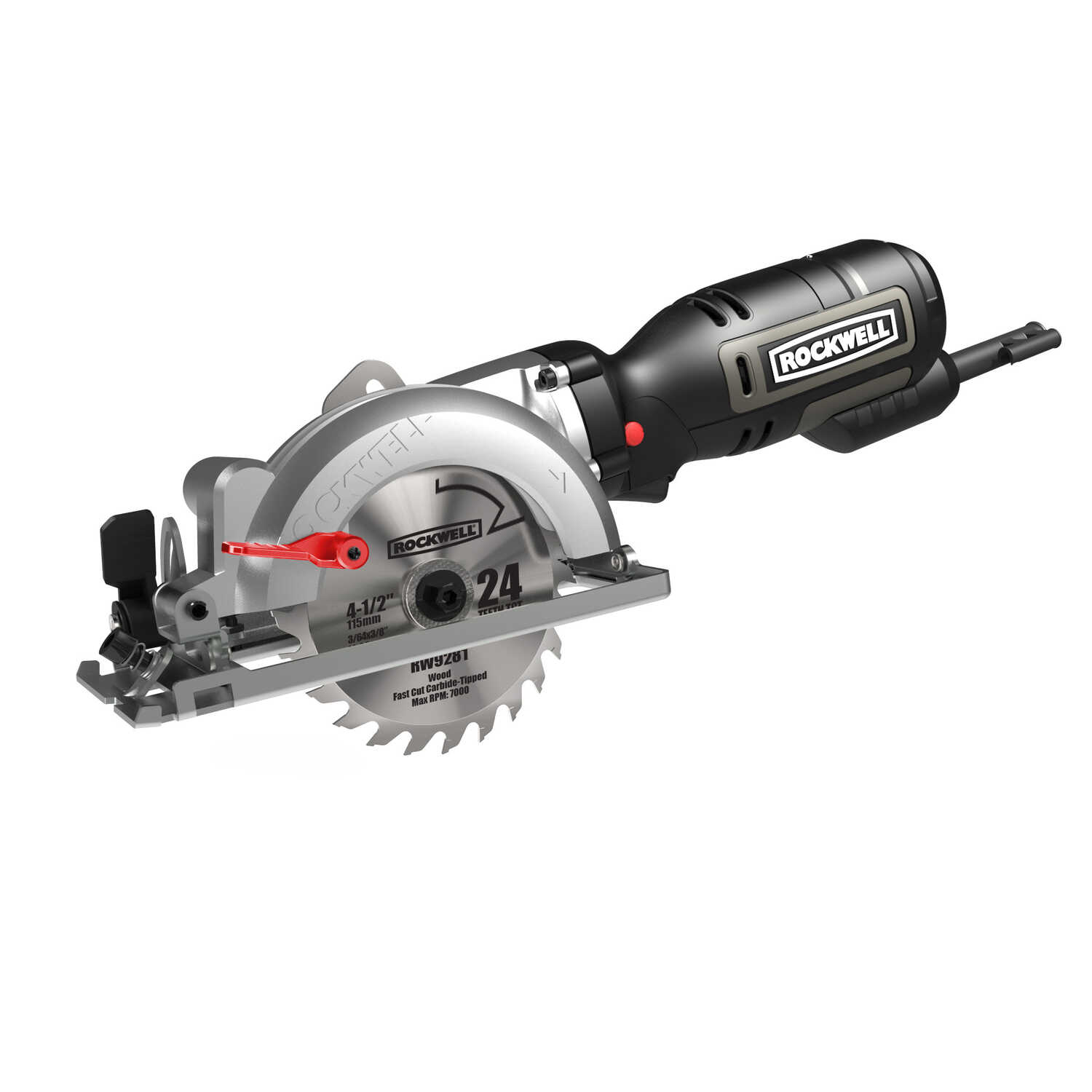 Rockwell  4-1/2 in. 5 amps Corded  Compact Circular Saw  3500 rpm