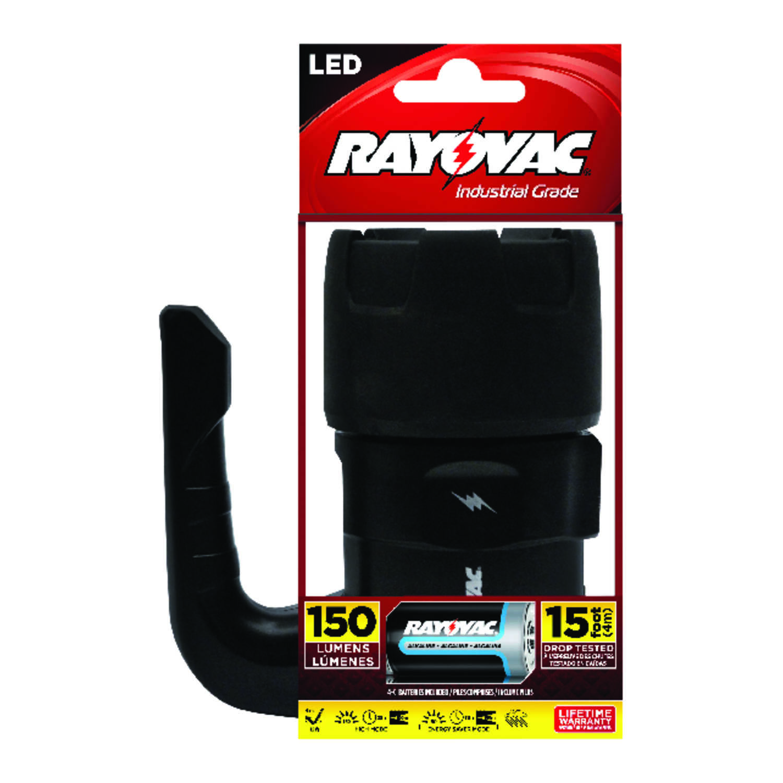 Rayovac Workhorse Pro 150 Lumens Black LED Flashlight C