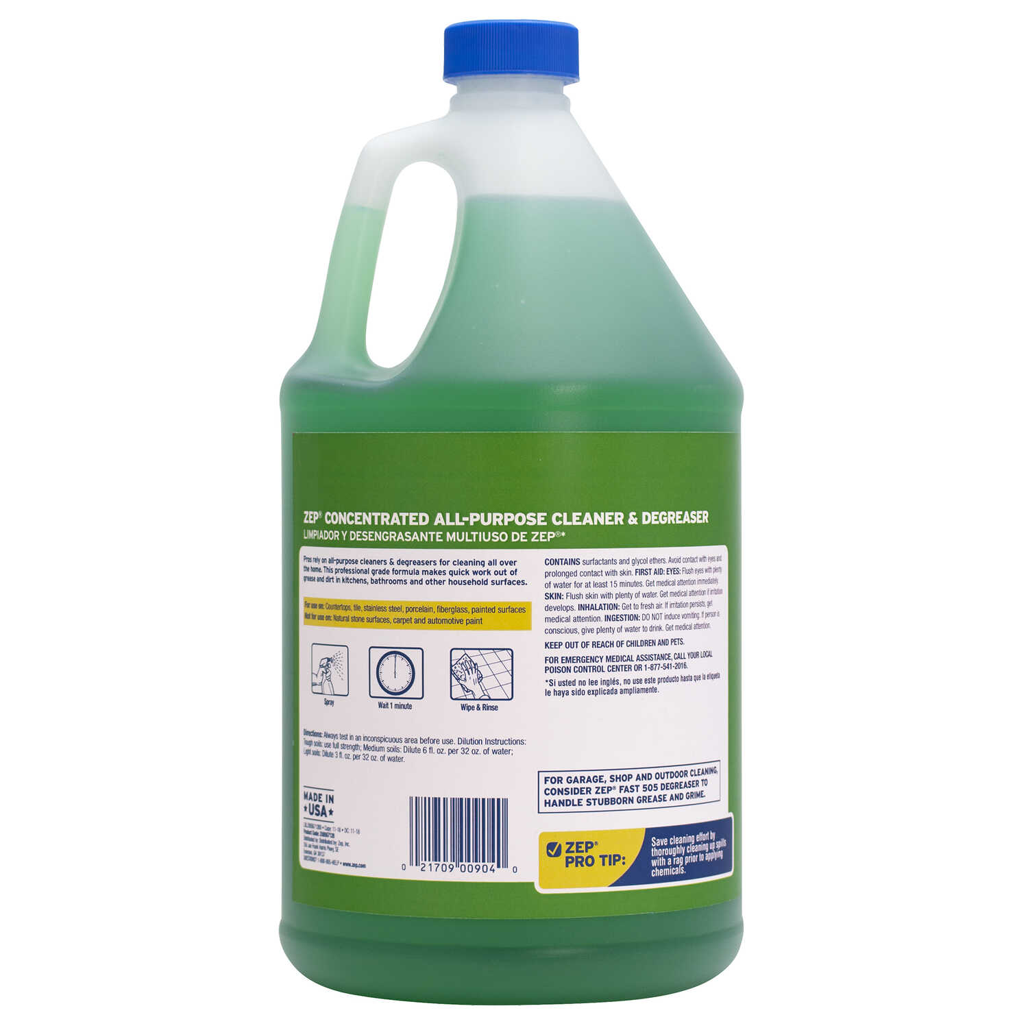 Zep  Commercial  Fresh Scent Concentrated Cleaner and Degreaser  Liquid  128 oz.