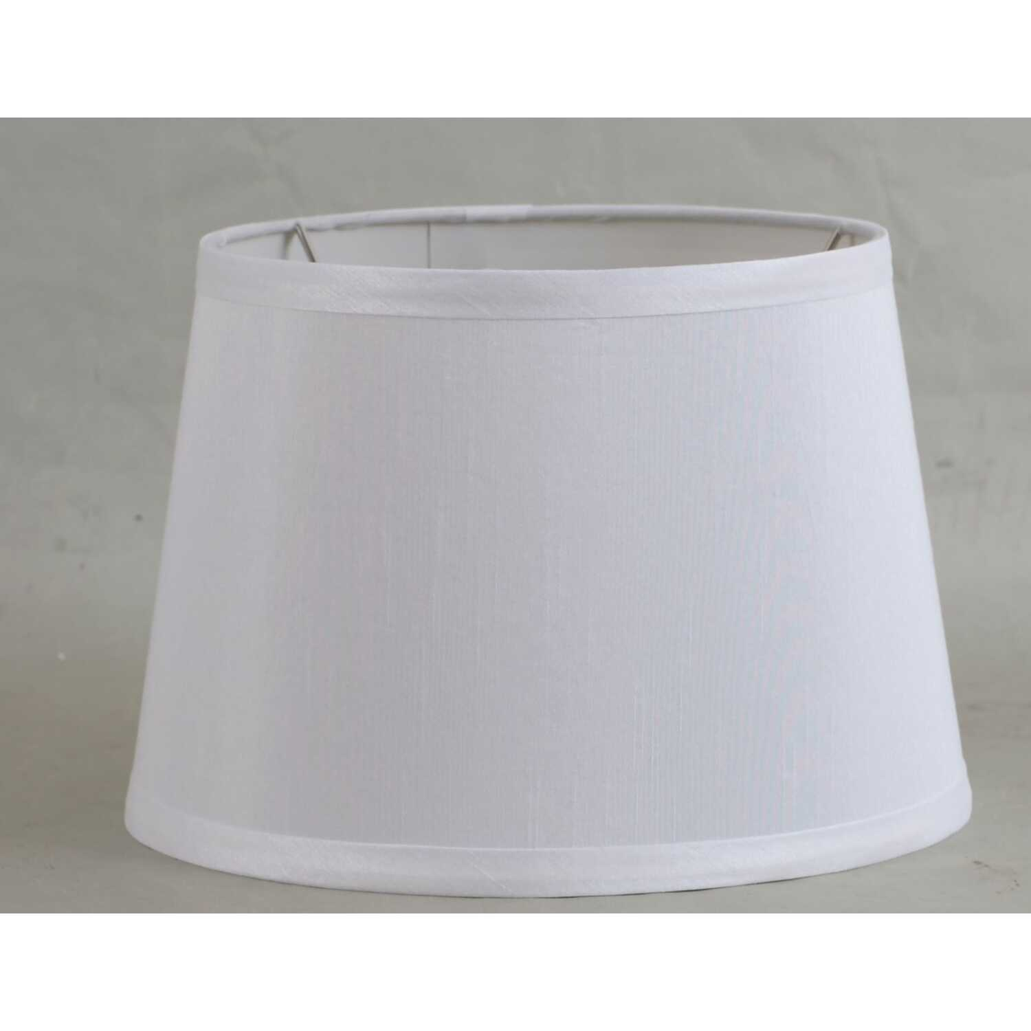 Living Accents  Drum  White  Fabric  Lamp Shade  1