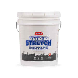 Ames  Maximum Stretch  Smooth  Tintable White  Elastomeric  Roof Coating  5 gal.