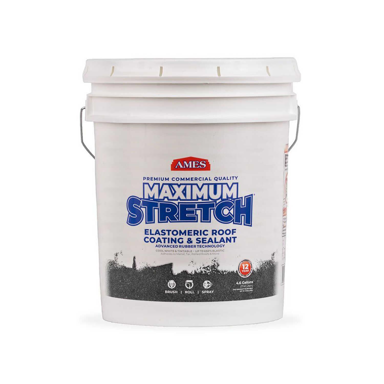 Ames Maximum Stretch Smooth Tintable White Elastomeric Roof