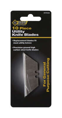 Steel Grip  Carbon Steel  Straight Edged  Utility Blade  10 pc.