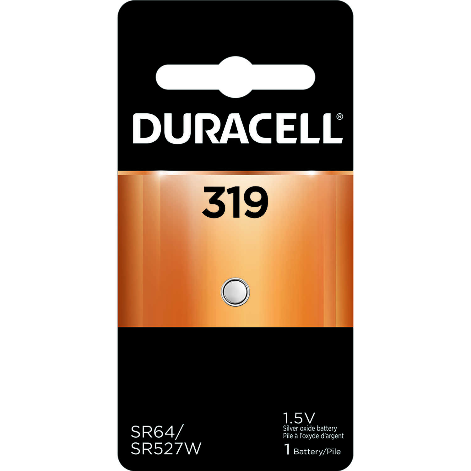Duracell  Silver Oxide  Electronic/Watch Battery  1 pk 319  1.5 volt