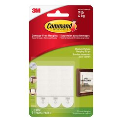 Command White Foam 6 pk Picture Hanging Strips