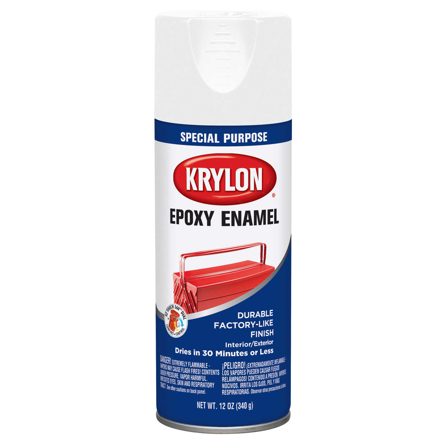 Krylon  Special Purpose  Gloss  White  Enamel Spray Paint  12 oz.