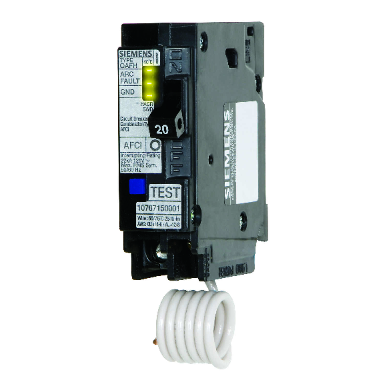 Siemens  20 amps Arc Fault/Single Pole  1  Circuit Breaker