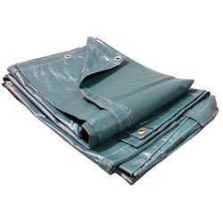 Gosport 8 ft. W x 10 ft. L Vinyl Tarp Forest Green