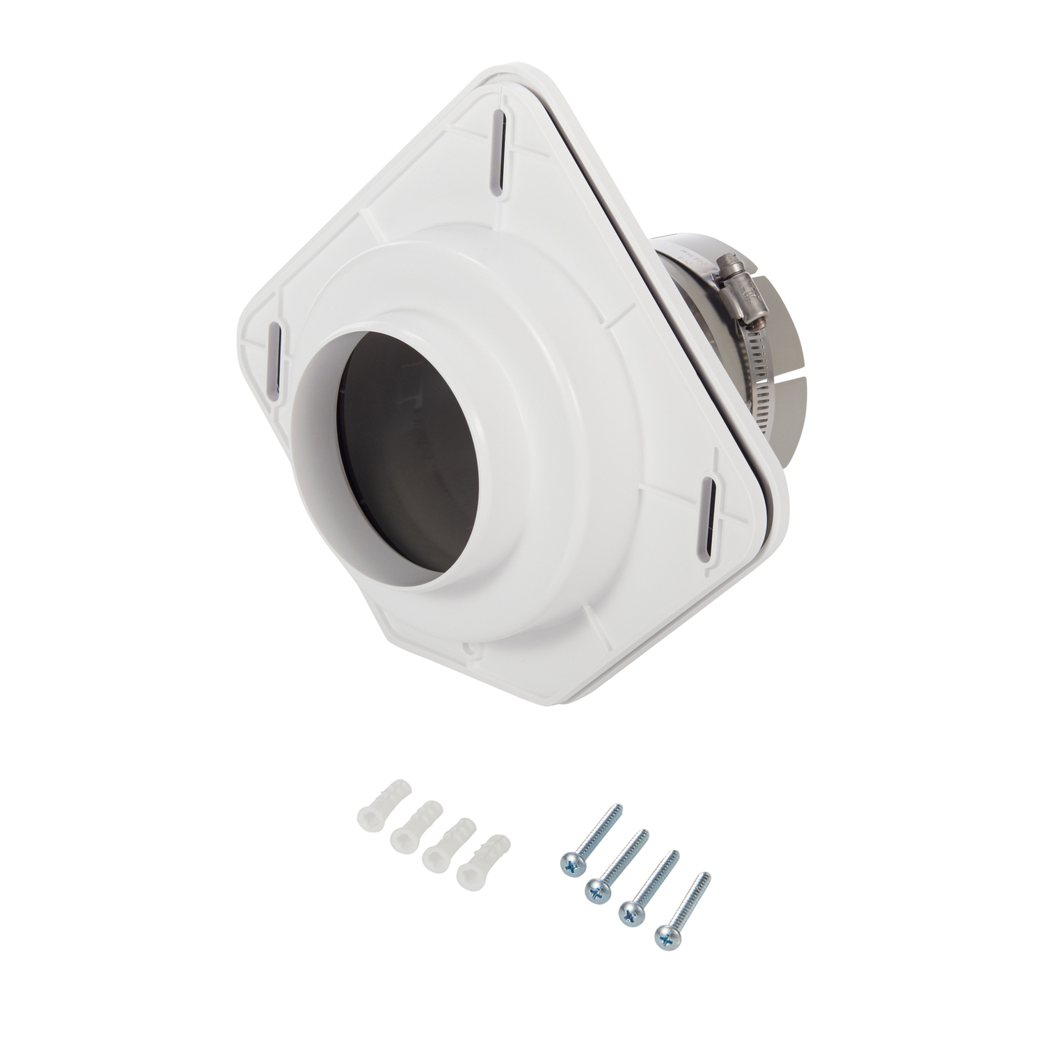 Dryer Vent Made Easy 8.25 L x 30 in. Dia. Dryer Vent Kit Dryer Vent Made Easy is a better way to connect your dryer to the wall. Our product eliminates the wasted space behind a dryer caused by the traditional flex pipe vent. Now, the front of the washer and dryer can line up perfectly. You can slide your dryer