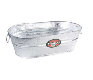 Behrens  16 gal. Steel  Tub  Oval