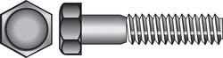 Hillman  1/4-20 in. Dia. x 2 in. L Stainless Steel  Hex Head Cap Screw  100 pk