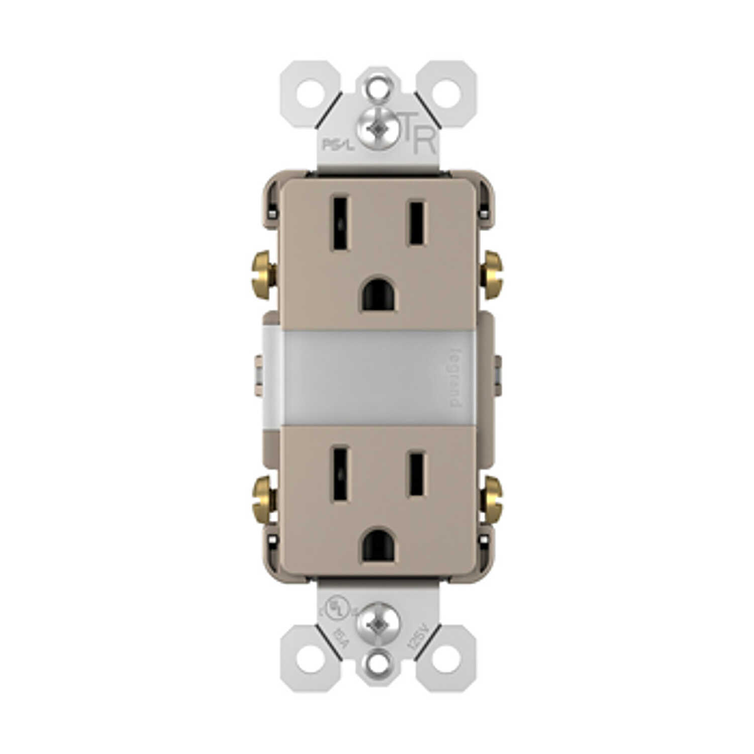 Legrand  Radiant  15 amps 125 volts Silver  Combination Outlet  5-15 R  1 pk