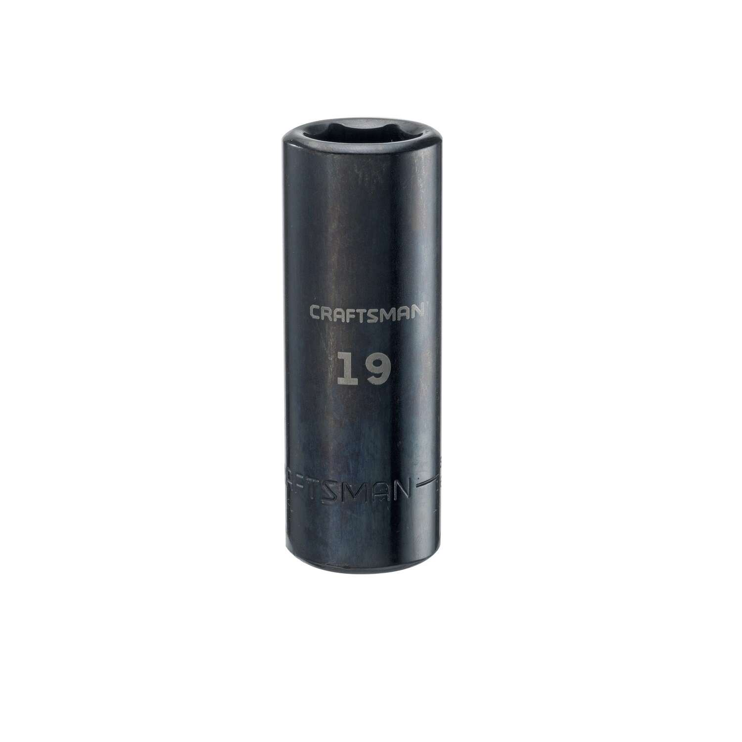 Craftsman  19 mm  x 1/2 in. drive  Metric  6 Point Deep  Deep Impact Socket  1 pc.