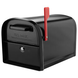 Architectural Mailboxes Oasis Modern Galvanized Steel Post Mount Black Mailbox