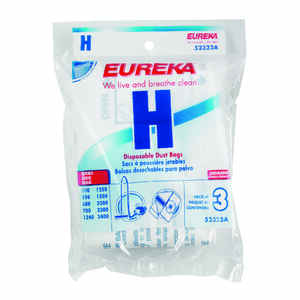 Eureka  H Style  Vacuum Bag  For Fits all Canister models and PowerTeam models 500, 550, 600, 700, 1
