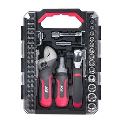 Ace Stubby Tool Set Black/Red 60 pc.