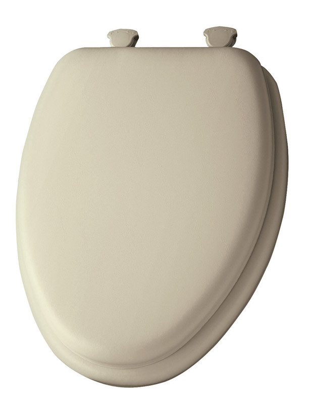 Mayfair  Elongated  Bone  Vinyl  Cushioned Toilet Seat