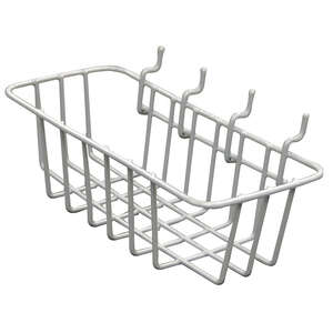 Crawford  Gray  4.1 in. Steel  Peggable Wire Basket  1