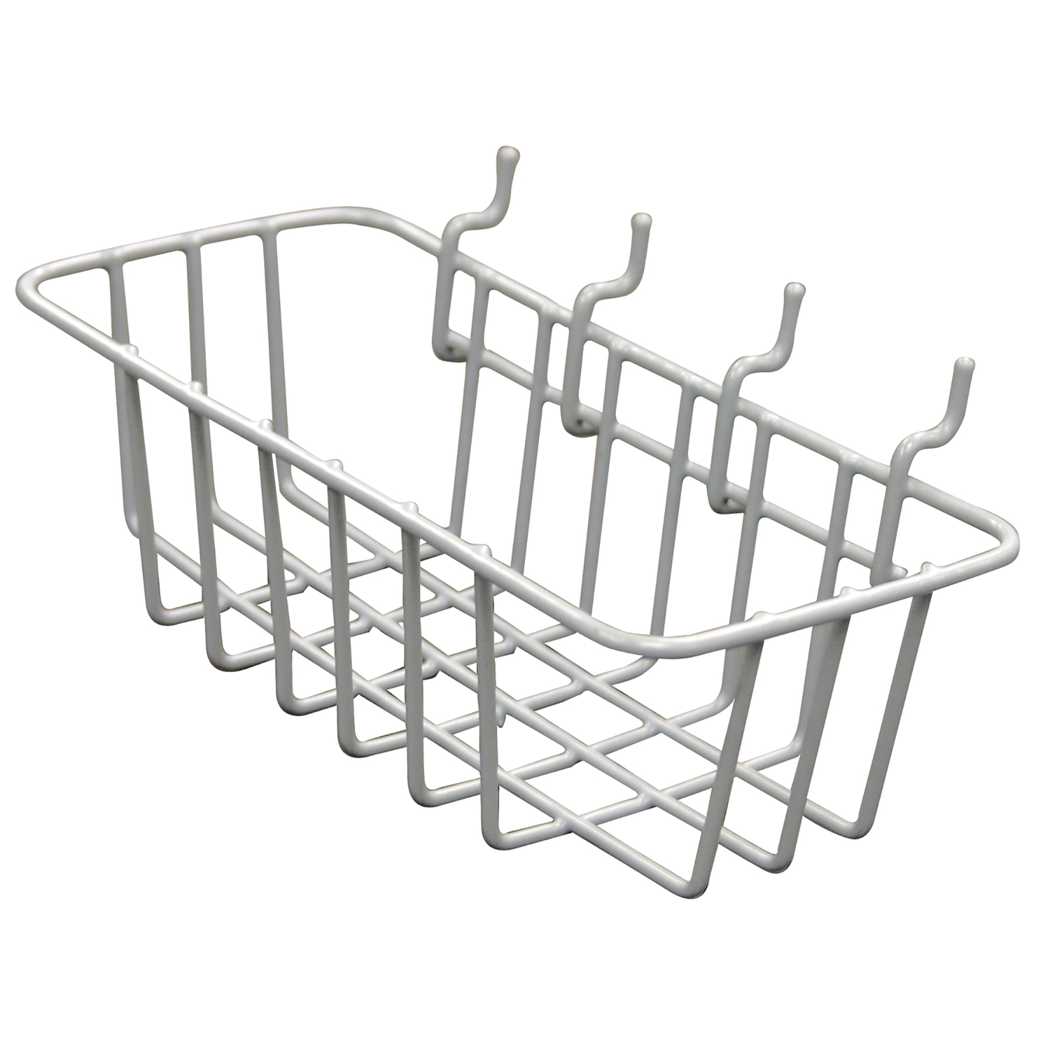 crawford gray steel 4 1 in  peggable wire basket 1 pk