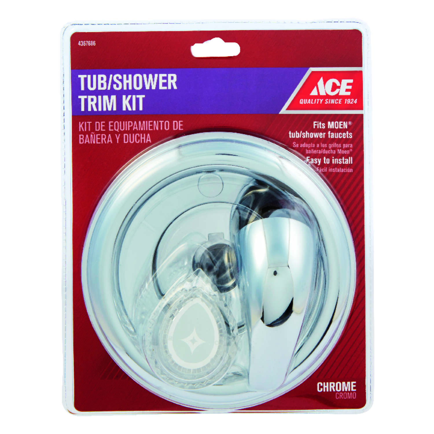 Ace Chrome Tub and Shower Trim Kit