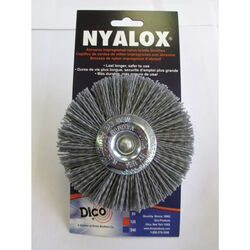 Dico  NYALOX  4 in. Coarse  Crimped  Mandrel Mounted  Wheel Brush  Nylon  2500 rpm 1 pc.