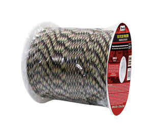 SecureLine  5/32 in. Dia. x 400 ft. L Camouflage  Braided  Nylon  Paracord