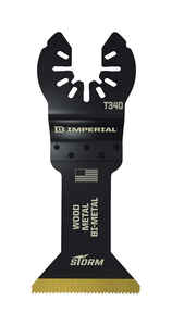 Imperial Blades  OneFit  1-3/4 in. Dia. Titanium-Coated Bi-Metal  Oscillating Saw Blade  3 pk