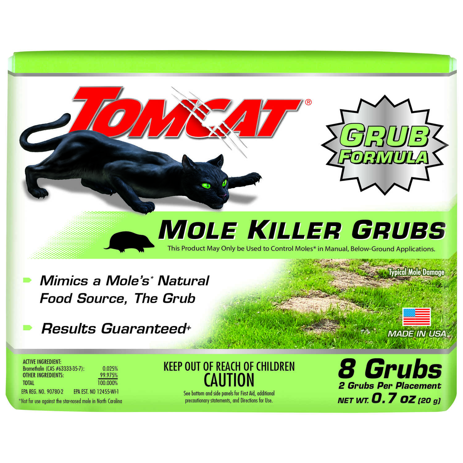 Tomcat  Medium  Bait  For Moles 8 pk
