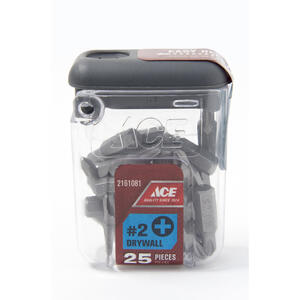 Ace  Phillips  2   x 1 in. L Drywall Insert Bit  S2 Tool Steel  25 pc.